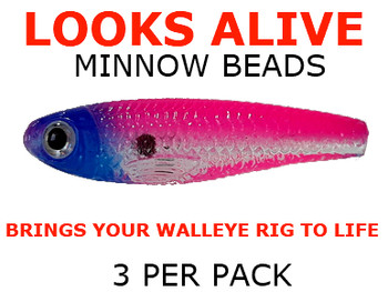 Looks Alive Minnow Beads TRANSPARENT RAINBOW SHAD