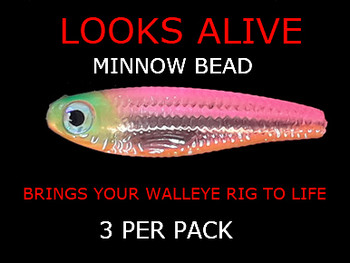Looks Alive Minnow Beads TRANSPARENT FRUITY MINNOW