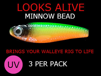 night crawler harness components Looks Alive Minnow Beads UV FIRETIGER
