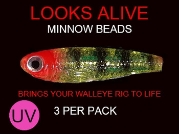 Looks Alive Minnow Beads UV HI FEVER for worm rigs