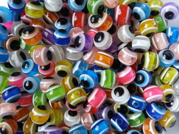 MULTI Lure Beads with EYES 6mm ASSORTED