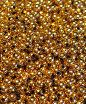 JT custom tackle 6mm Metallic Gold bead 100/pk