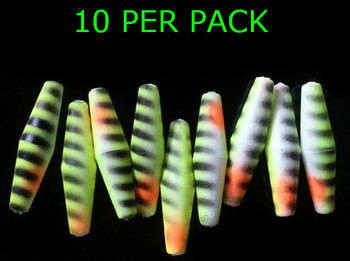 "RIG FLOATS TORPEDO 1"" PERCH WALLEYE SPINNERS"