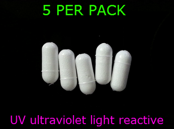 """RIG FLOATS 1/4"""" UV WHITE for walleye rigs"""