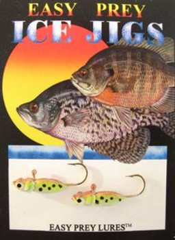 ICE FISHING JIGS #6 FREEZE MINNOW BROWN TROUT/ EASY PREY LURES