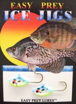 ICE FISHING LURES #6 SUNFISH JIG BLUE SHAD/ EASY PREY LURES