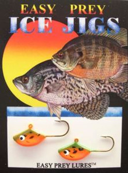 ICE FISHING LURES #6 SUNFISH JIG RIVER CRAW/ EASY PREY LURES