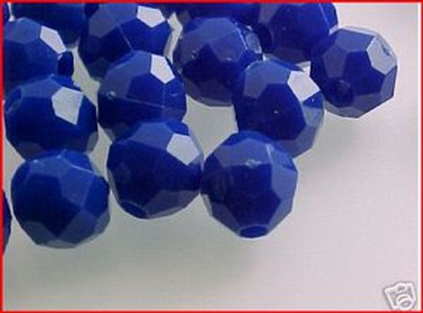Fishing Beads Faceted 8mm BLUE 50/PK