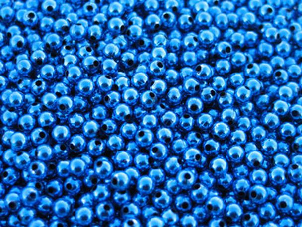 JT CUSTOM TACKLE 4mm Metallic Blue lure Beads 100/PK