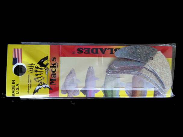 """Macks Smile Blade 1.9"""" silver sparkle for walleye harnesses"""
