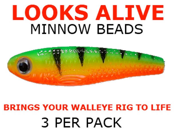 night crawler harness components Looks Alive Minnow Beads FIRETIGER