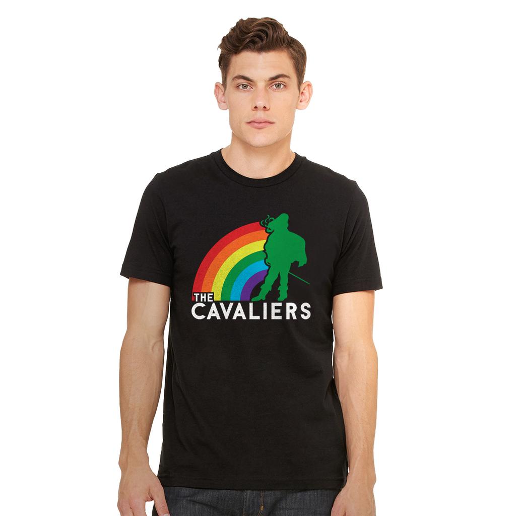 Cavaliers Standing Man Rainbow Tee