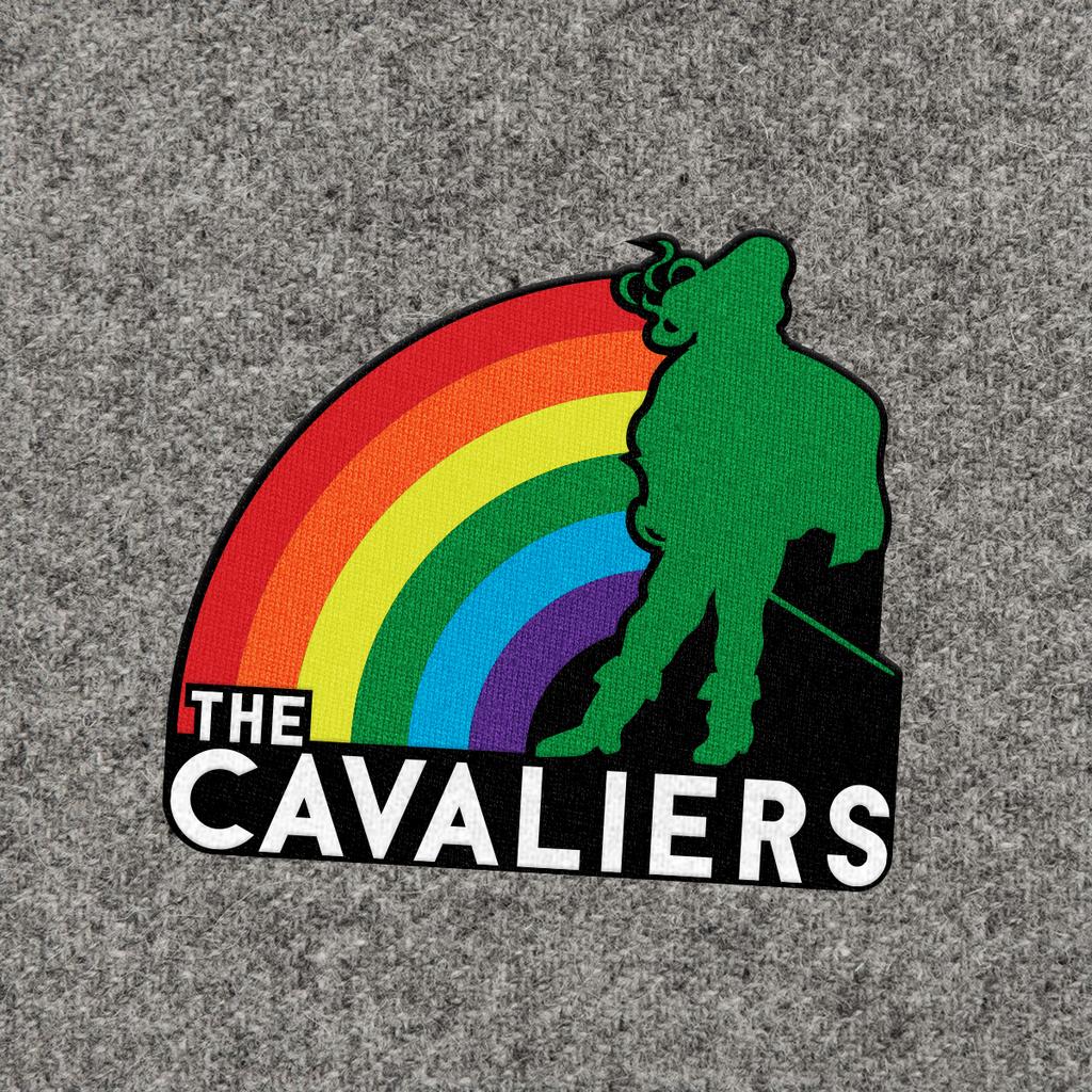 Cavaliers Standing Man Rainbow Patch