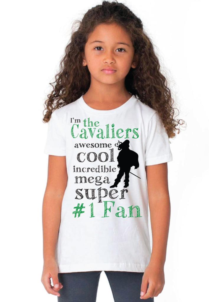 Cavaliers Kids #1 Fan White Tee