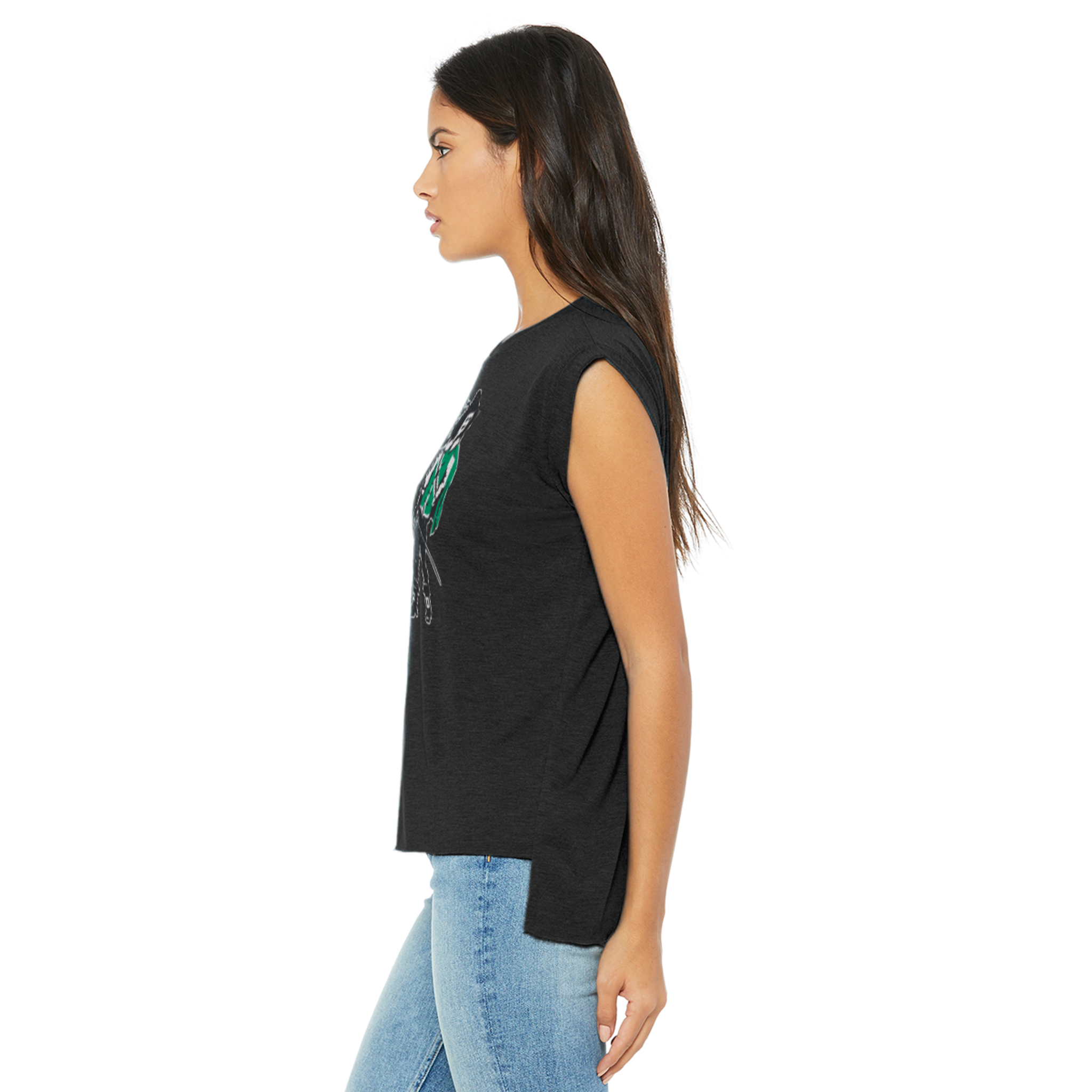Vintage Standing Man Flowy Shirt