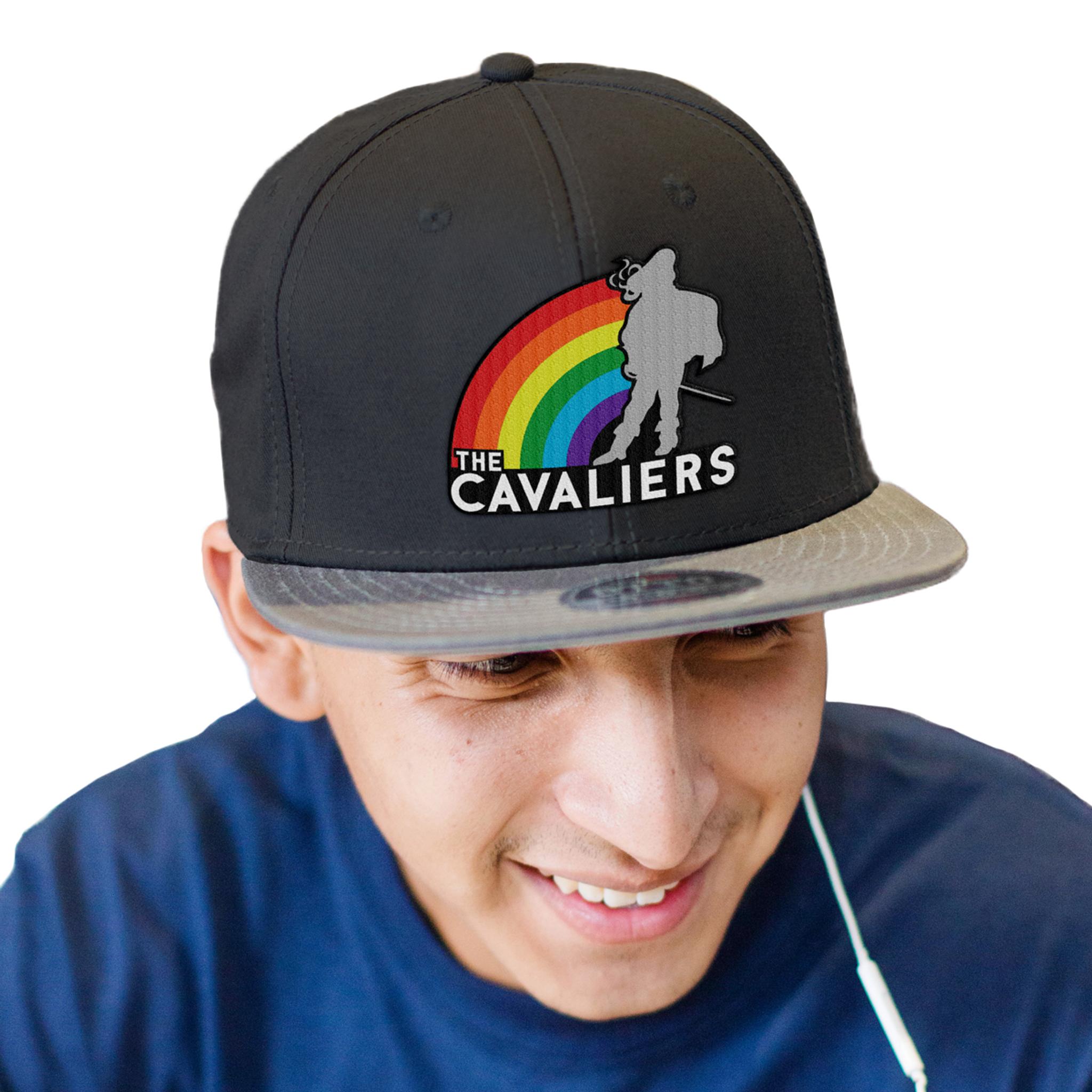 Cavaliers Rainbow Standing Man Cap