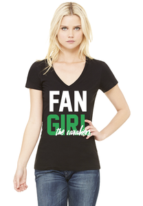 Cavaliers Ladies Fan Girl V-neck Shirt