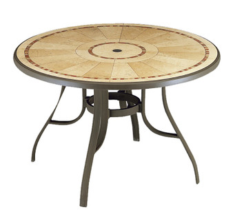"Louisiana 48"" Round Table w/Metal Legs"