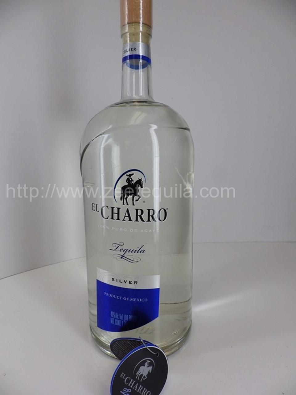 El Charro Silver Half Gallon Old Town Tequila
