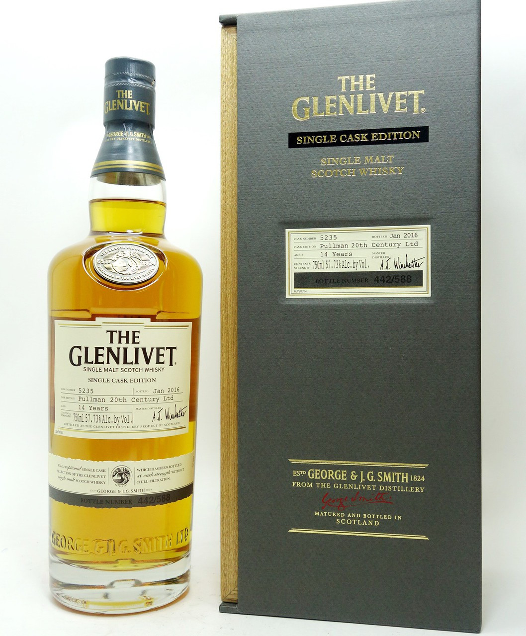 d61b9728e78 ... THE GLENLIVET SINGLE CASK EDITION SCOTCH WHISKY 14 YEARS PULLMAN 20TH  CENTURY ...