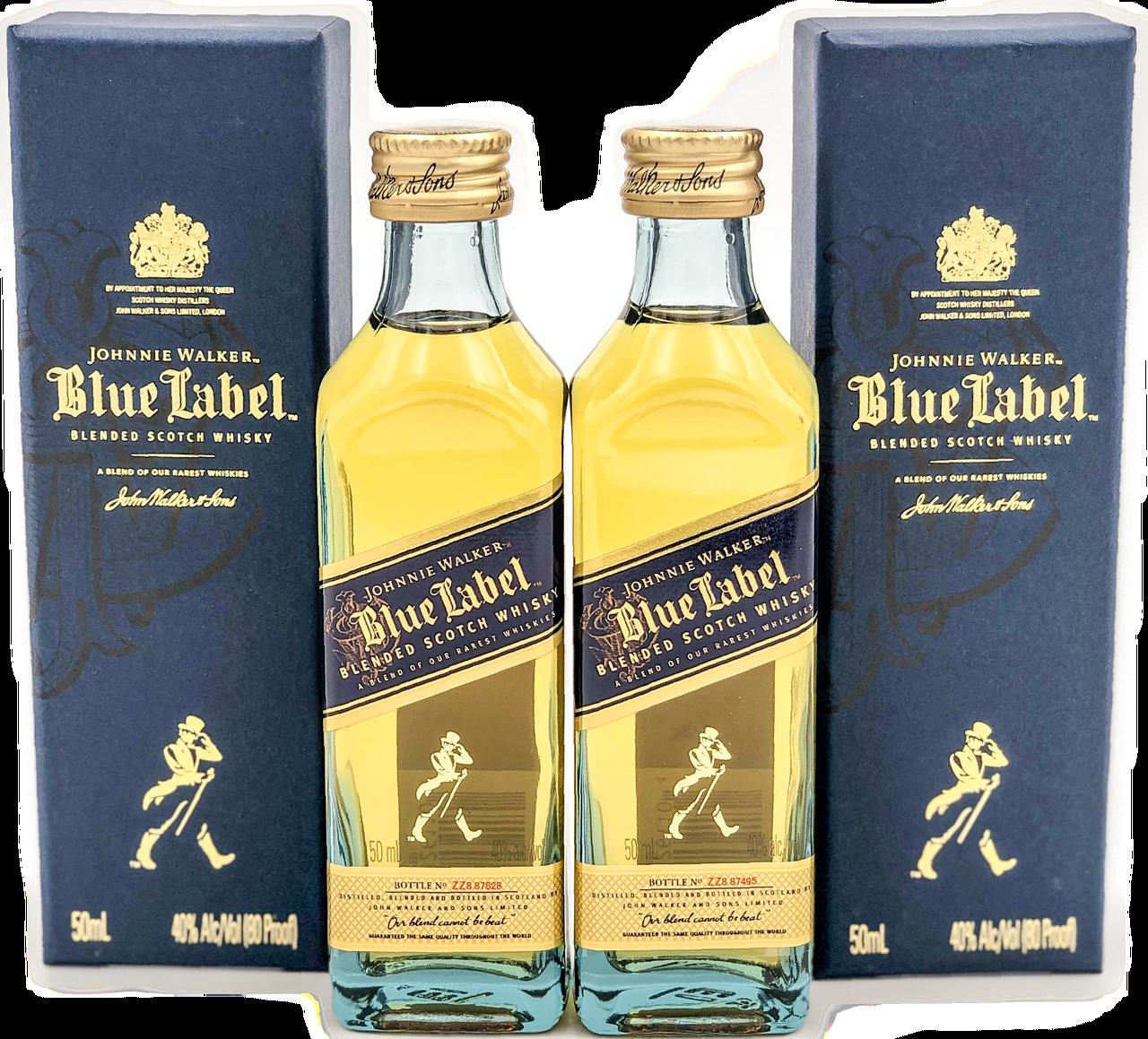 Johnnie Walker Blue Label Scotch Whisky 50ml Mini Bottles Set - Old Town Tequila