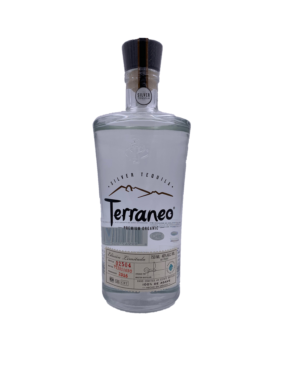 Terraneo Silver Premium Organic Tequila Old Town Tequila