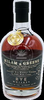 Milam & Greene Straight Rye Whiskey 750ml