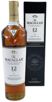 The Macallan Highland Single Malt Scotch Whisky Aged 12 Years Sherry Oak Cask