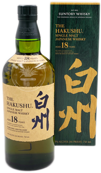 Suntory The Hakushu Single Malt Japanese Whisky Aged 18 Years 750ml