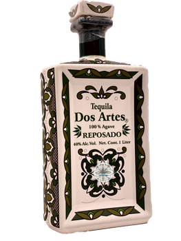 Dos Artes Reposado Tequila Art bottle 1 Liter
