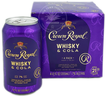 Crown Royal Whisky & Cola 4 Pack