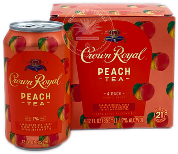Crown Royal Peach Tea Whisky 4 Pack