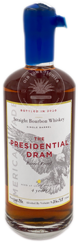 The Presidential Dram Straight Bourbon Whiskey Aged 4 Years