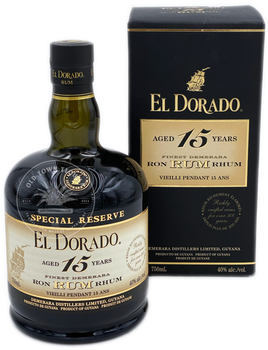 El Dorado Finest Demerara Rum Aged 15 Years 750ml
