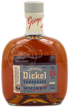 George Dickel Tennessee Single Barrel Whiskey Aged 15 Years 750ml