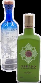4 Copas Organic Blanco Tequila X Casa D'Aristi Narano Bitter Orange Liqueur Combo