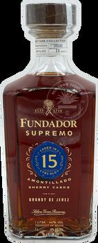 Fundador Supremo 15  Year Amontillado Sherry Casks Brandy 1L