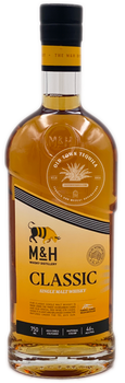 M&H Classic Single Malt Israeli Whiskey 750ml