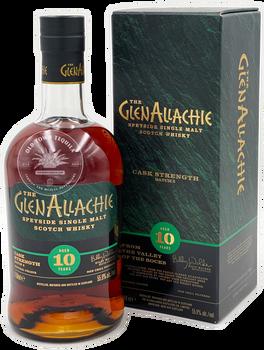 The GlenAllachie Cask Strength 10 Year Speyside Single Malt Scotch Whisky