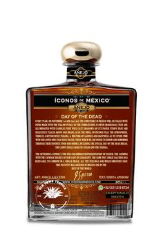 Iconos de Mexico Day of the Dead Calavera Tequila Añejo 750ml