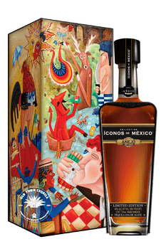 Iconos de Mexico Mexican Lottery Tequila Wooden Box Añejo 750ml