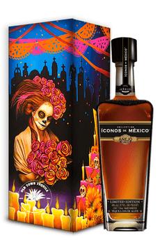 Iconos de Mexico Day of the Dead Tequila Wooden Box Añejo 750ml