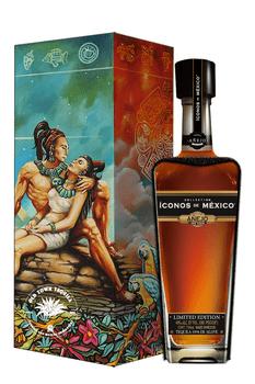 Iconos de Mexico Mayan Misticism Tequila Wooden Box Añejo 750ml