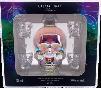 Crystal Head Aurora Vodka Gift Set w/ Shot Glasses 750ml