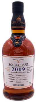 Foursquare 2009 Single Blended Barbados Rum 750ml