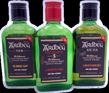 ARDBEG The Ultimate Islay Single Malt Scotch Whisky The THREE MONSTERS OF SMOKE 3x200ml