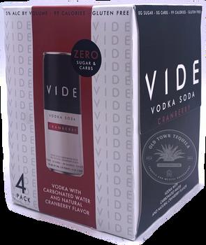 VIDE Cranberry Vodka Soda (4-Pack)