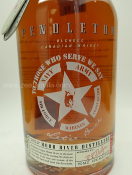 PENDLETON CANADIAN WHISKEY ARMED FORCES