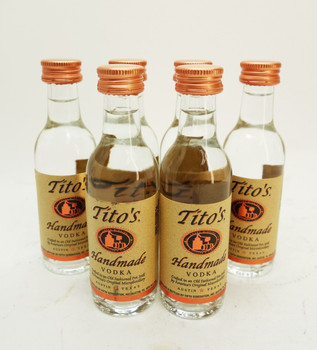 Tito's Vodka 50 ML. (6 Bottles)