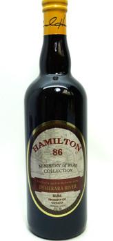 HAMILTON 86 DEMERARA RIVER RUM